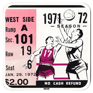 1971 Basketball Ticket Stub Coasters