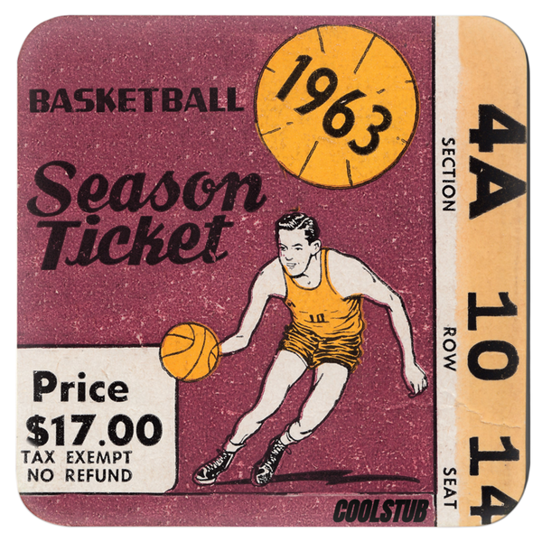 Best Cyber Monday Sports Gifts: 1963 Basketball Season Ticket Coasters