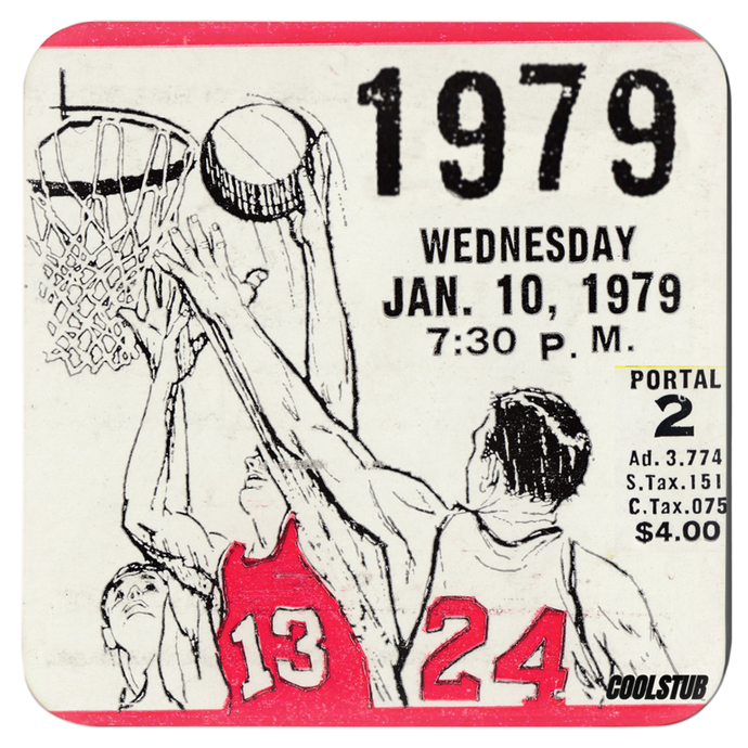 Best Cyber Monday Basketball Gifts: 1979 Basketball Ticket Coasters