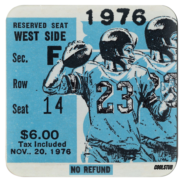 1976 QB Ticket Stub Coasters