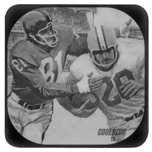 1963 Black and White TV Football Action Coasters