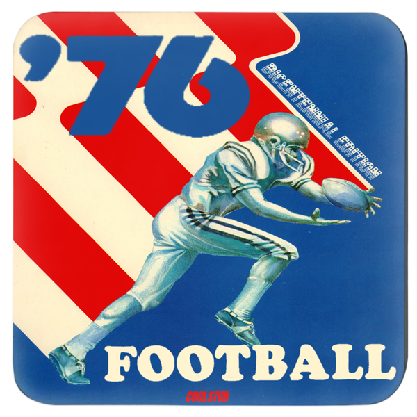 1976 Football Bicentennial Coasters