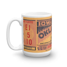 Load image into Gallery viewer, 1934 Iowa State vs. Oklahoma Sooners Ticket Mug