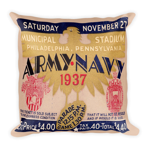 1937 Army vs. Navy Pillow