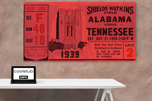 1939 Tennessee vs. Alabama