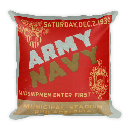 1939 Army vs. Navy Vintage Ticket Pillow
