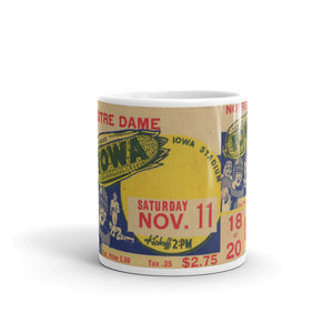 1939 Notre Dame vs. Iowa Ticket Mug (11 oz)