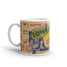 Load image into Gallery viewer, 1939 Notre Dame vs. Iowa Ticket Mug (11 oz)