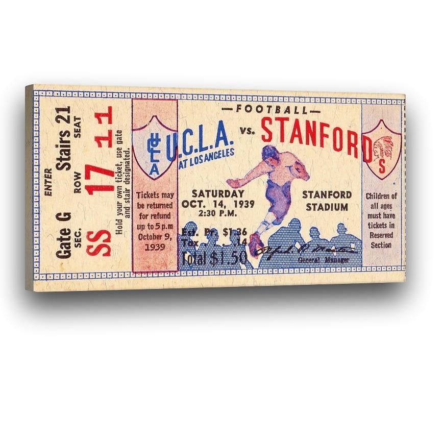 1939 UCLA vs. Stanford Ticket Stub Art