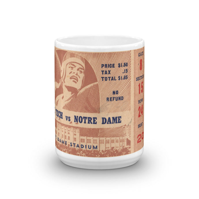 Notre Dame ticket coffee mug | COOLSTUB