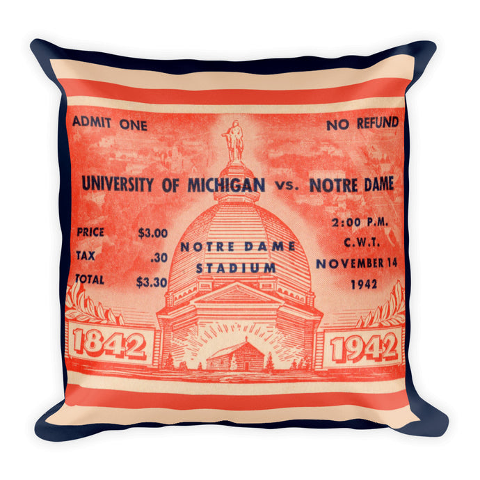 1942 Michigan vs. Notre Dame Pillow