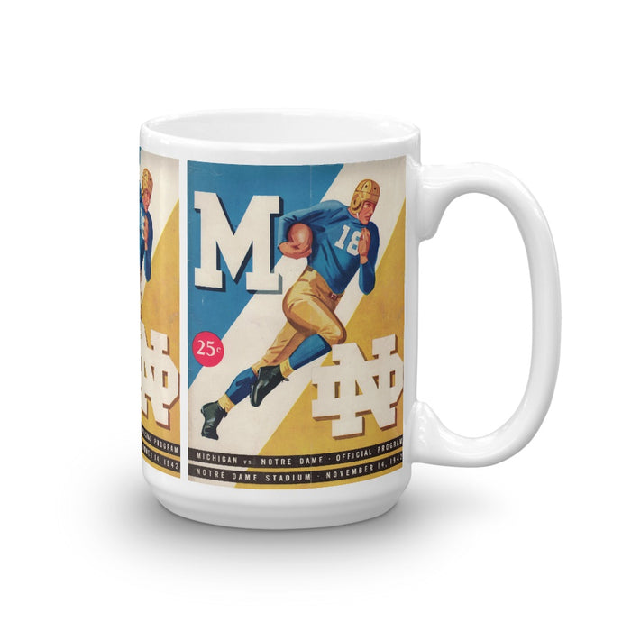 1942 Michigan vs. Notre Dame Coffee Mug (15oz)