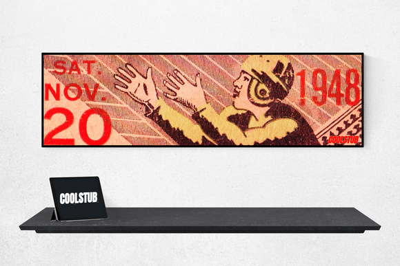 1948 COOLSTUB™ Football Ticket Stub Art