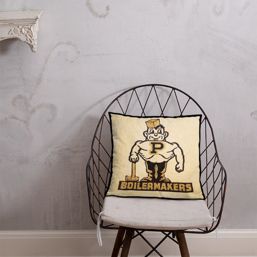Vintage Purdue Boilermakers pillow