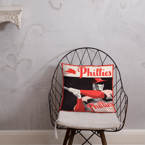 1953 Philadelphia Phillies Scorecard Pillow