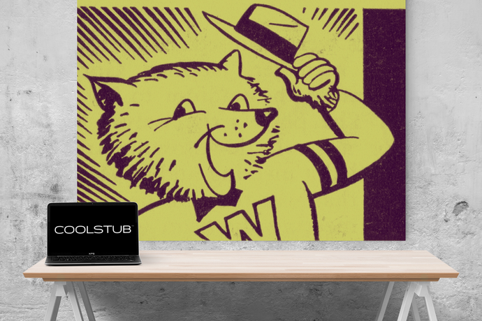 1955 Washington Husky Canvas Art