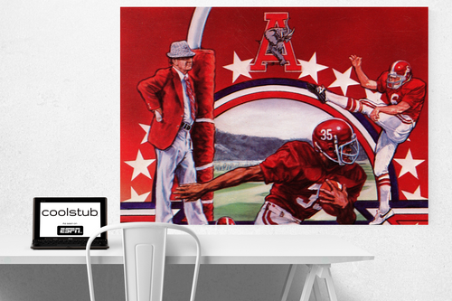 '82 Bama Football Art