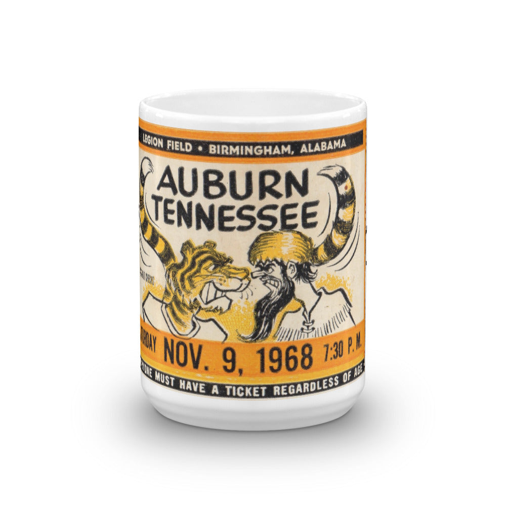 1968 Auburn vs. Tennessee Ticket Mug