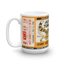 Load image into Gallery viewer, 1968 Auburn vs. Tennessee Ticket Mug