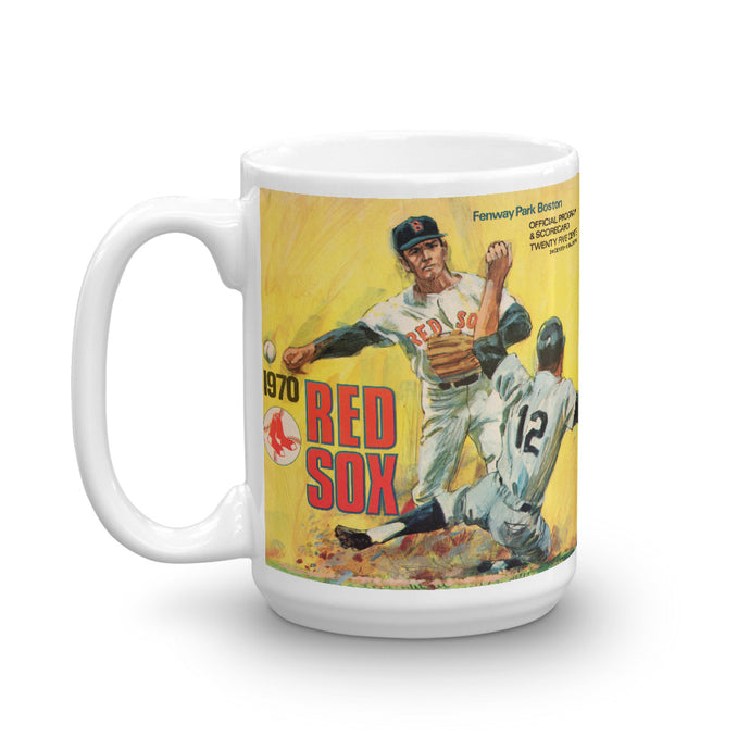1970 Boston Red Sox Scorecard Mug