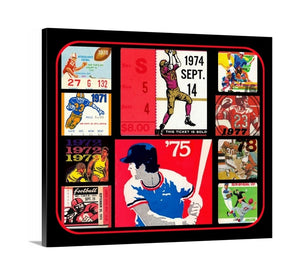 1970's Sports Collage Premium Canvas