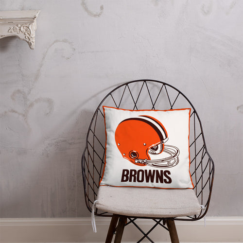 Vintage Cleveland Browns Helmet Pillow