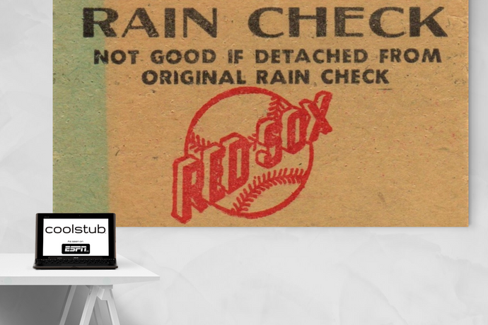 1974 Boston Red Sox Ticket Stub Art