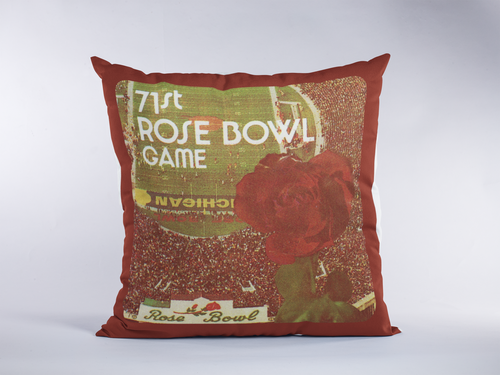 1985 Rose Bowl Ticket Pillow (USC vs. Ohio State)