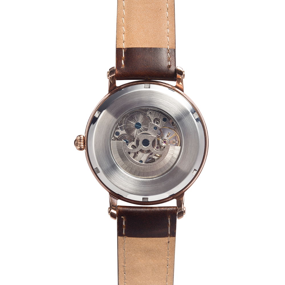 automatic watches no battery required with leather strap