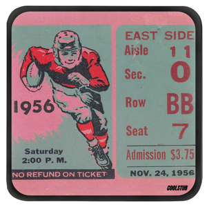 1956 Football Ticket Stub Coasters