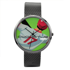 1979 Coolstub™ Baseball Big Face Quartz Fashion Watch With Casual Stainless Steel Band