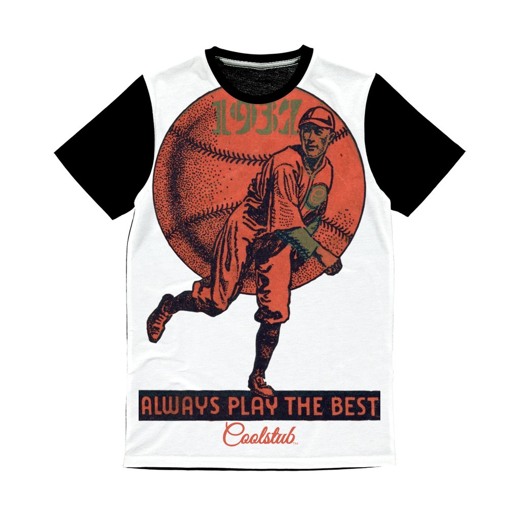 Coolstub™ 1937 Always Play The Best Vintage Classic Sublimation Panel T-Shirt