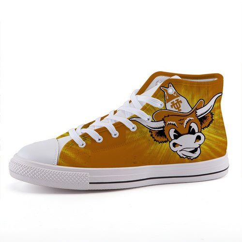 1960's Texas Longhorn High-Top Fashion Canvas Shoes