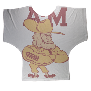 1950's Texas A&M Ol' Sarge Sublimation Batwing Top