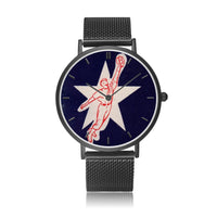 "Coolstub™ ""Leaping Catch"" Vintage Baseball Art Watch"