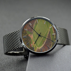 1940's Sanford Stadium Quartz Fashion Watch With Casual Stainless Steel Band