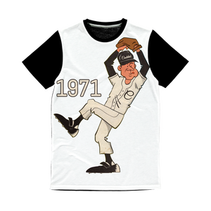 Coolstub™ 1971 Retro Baseball Pitcher Classic Sublimation Panel T-Shirt