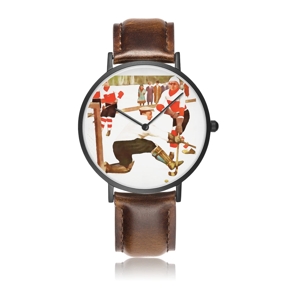 """Icy Day"" Coolstub™ Vintage Hockey Art Watch"