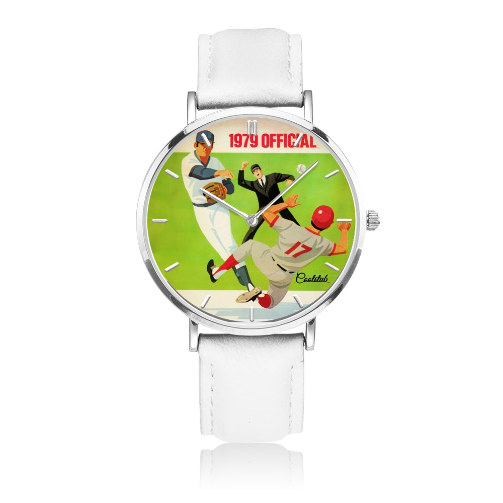 Coolstub™ 1979 Official™ Retro Baseball Scorecard Art Watch