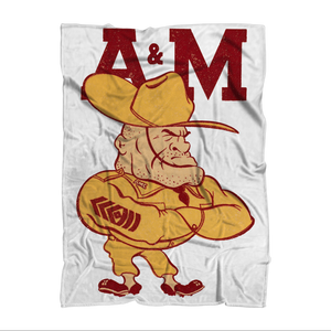 1950's Texas A&M Ol' Sarge Sublimation Adult Blanket