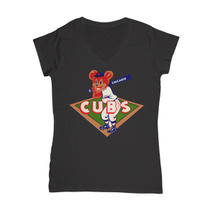 1950's Chicago Cubs  Classic Women's V-Neck T-Shirt