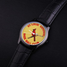 Load image into Gallery viewer, 1933 St. Louis Cardinals Waterproof Quartz Fashion Watch With Black Genuine Leather Band