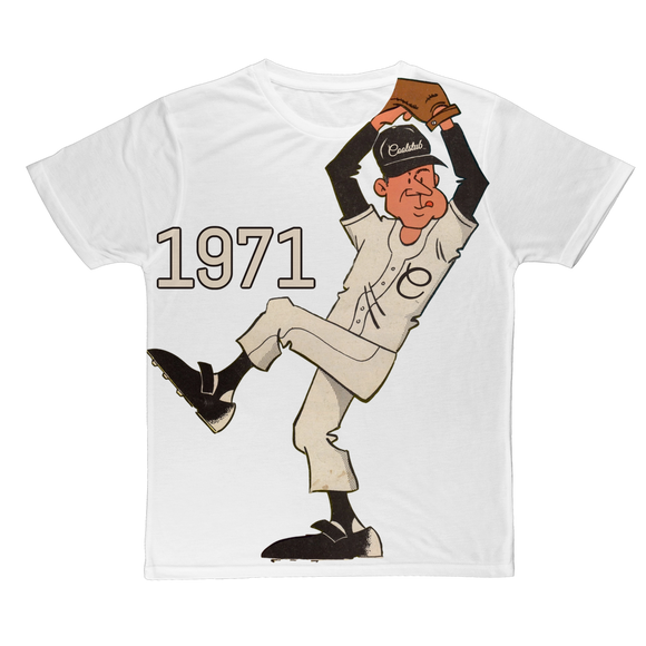 Coolstub™ 1971 Retro Baseball Pitcher Classic Sublimation Adult T-Shirt