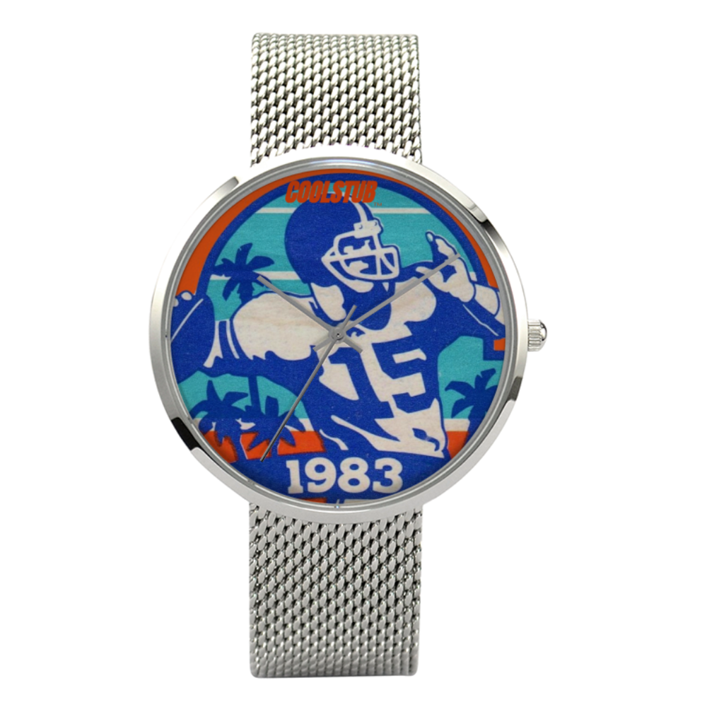 vintage football watch, 1983 retro quarterback watch