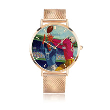 Load image into Gallery viewer, gold football watch