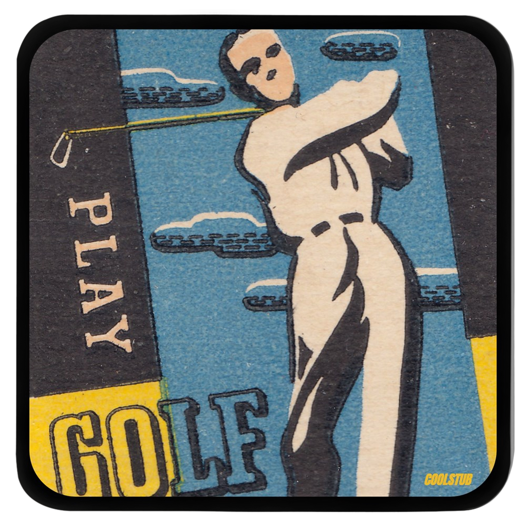 PLAY GOLF Vintage Golf Coasters