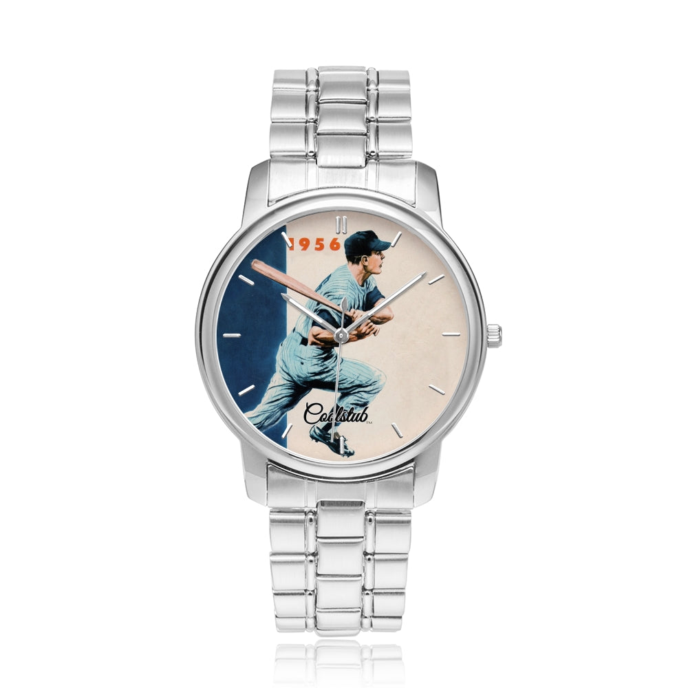 silver baseball watches