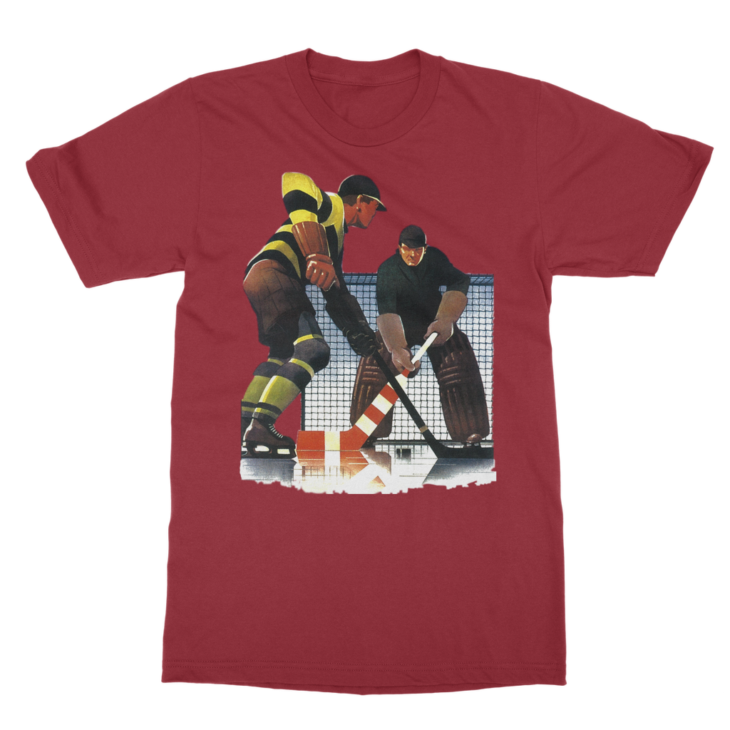 Coolstub™ Vintage Hockey Goalie Art Classic Adult T-Shirt