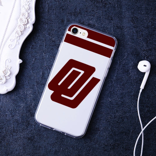1980's Oklahoma Sooners Bumper Soft and Premium Flexible TPU Cover Case for iPhone 7 /iPhone 8