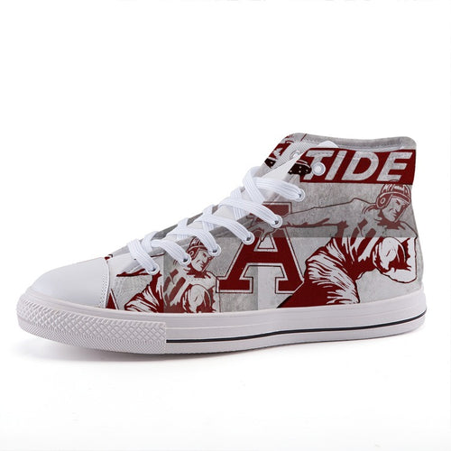 Vintage Alabama Football High-Top Fashion Canvas Shoes